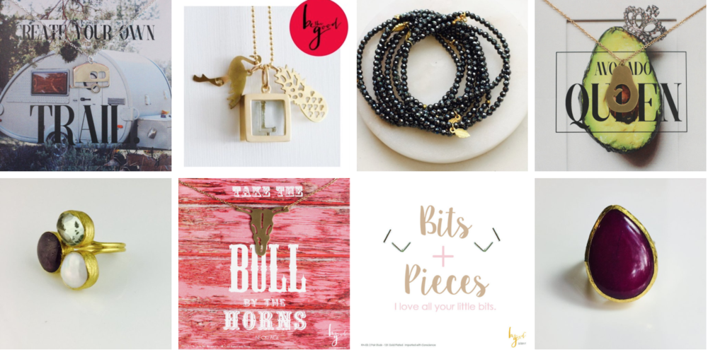 Necklaces, earrings, rings & bracelets—Oh my! - Our icon necklaces have been featured in Uncommon Goods and our statement rings and inspirational jewelry pieces are popping up on Instagram and Facebook. Please join us on social media (Instagram + Facebook)to be part of our journey and get a glimpse of the social media content we can share with our retailers.
