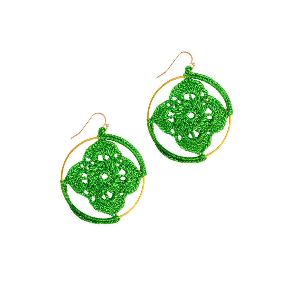 earrings product tassel green shoprealstyle knotted