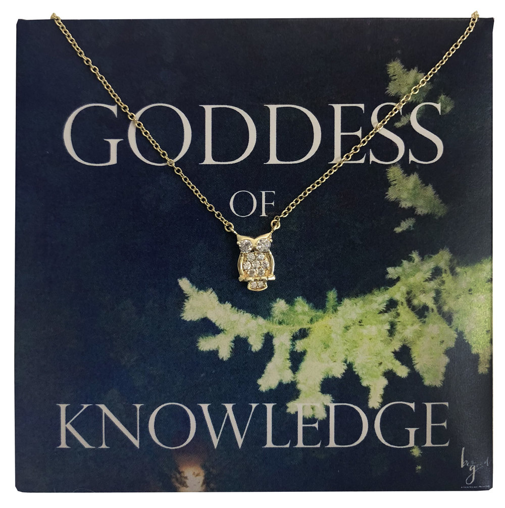 Goddess of Knowledge Owl Necklace