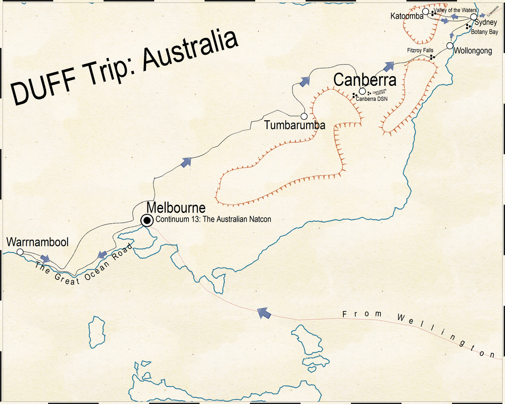 Map I created for my Down Under Fan Fund Report
