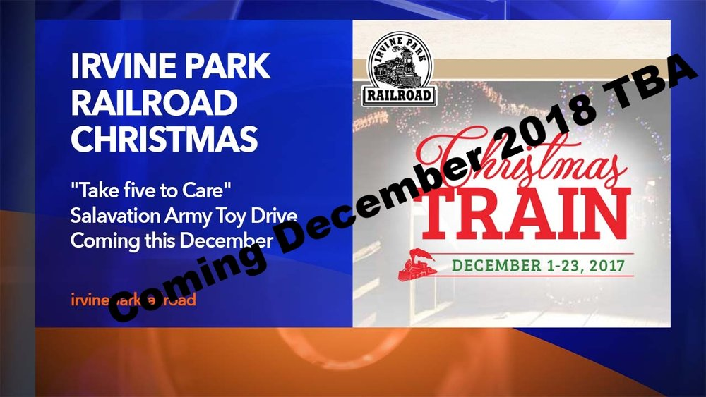Irvine Park Christmas Train And Toy Drive 2018