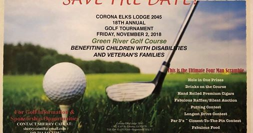 CORONA ELKS CLUB GOLF TOURNAMENT