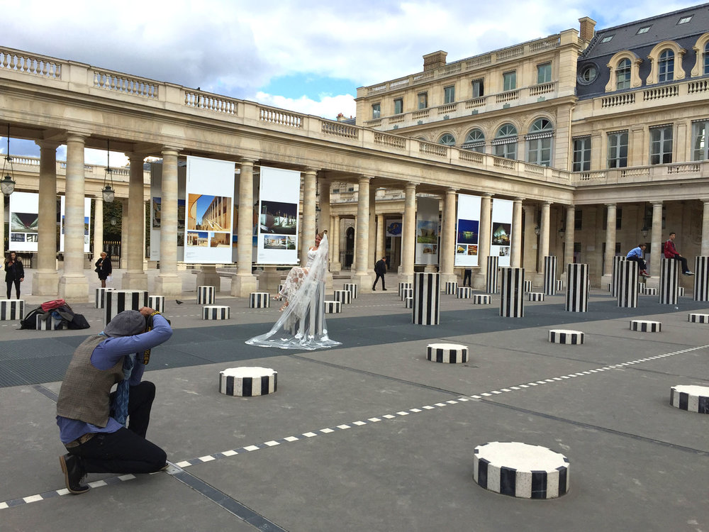 Photographer at Palais-Royal in Paris