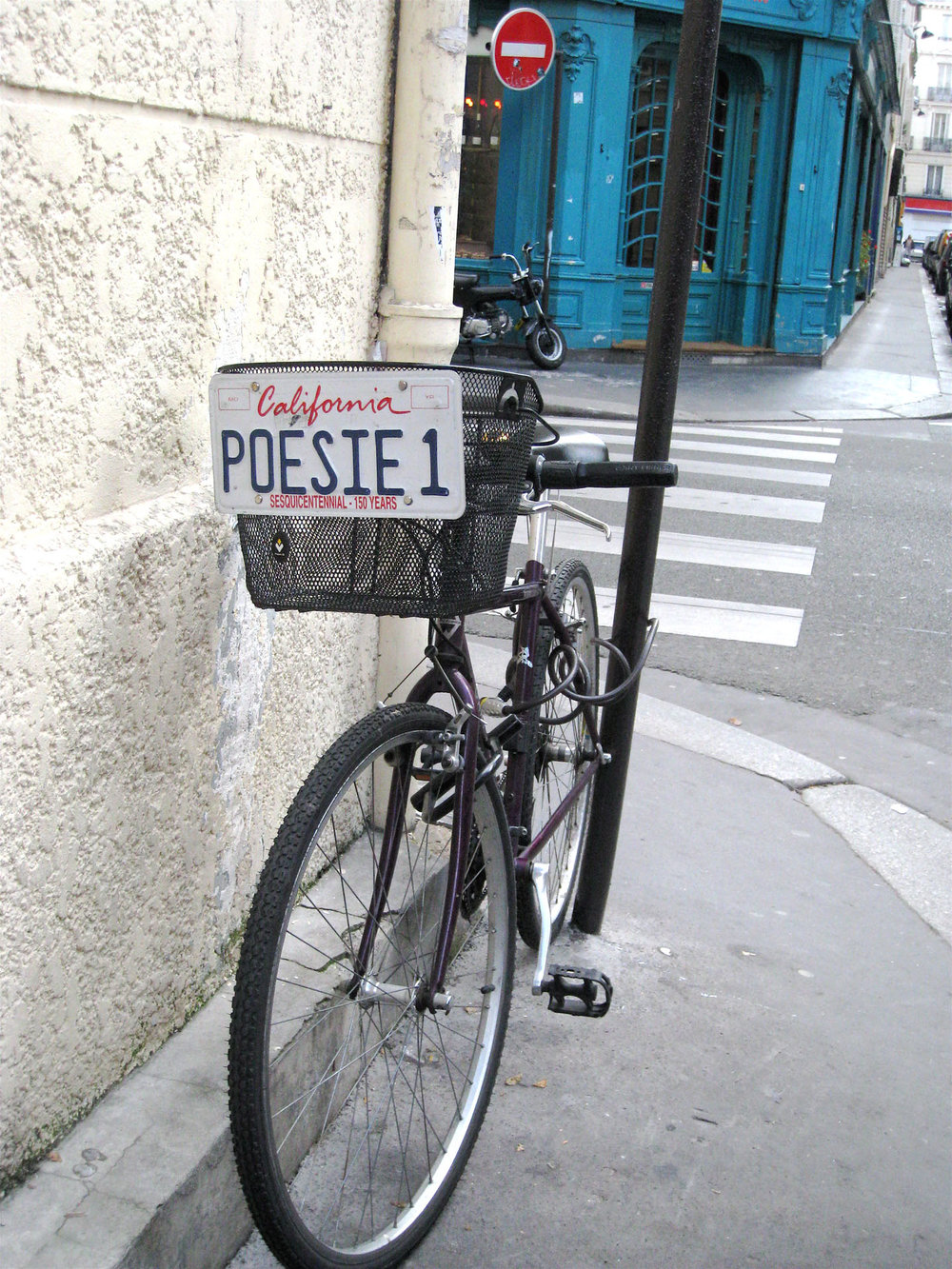 Poetic bicycle in Paris