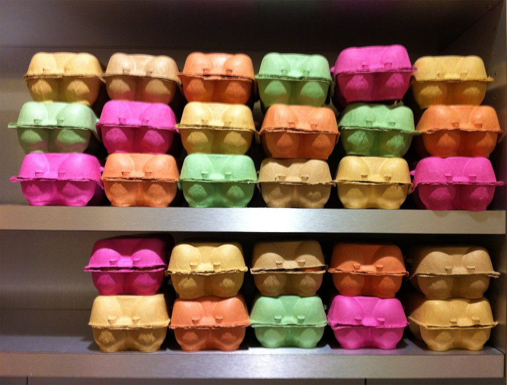 Egg cartons at Le Bon Marche in Paris
