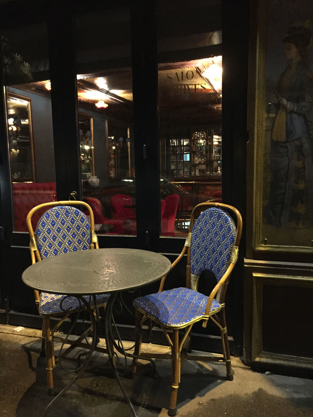 Bistro chairs at La Perouse