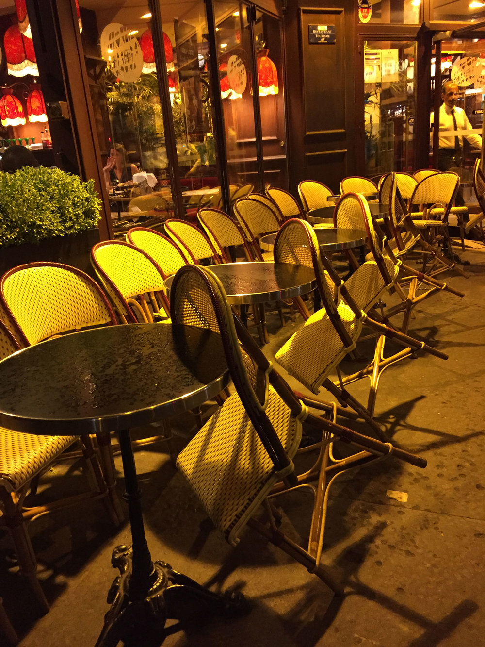 Bistro chairs near Gare de Lyon