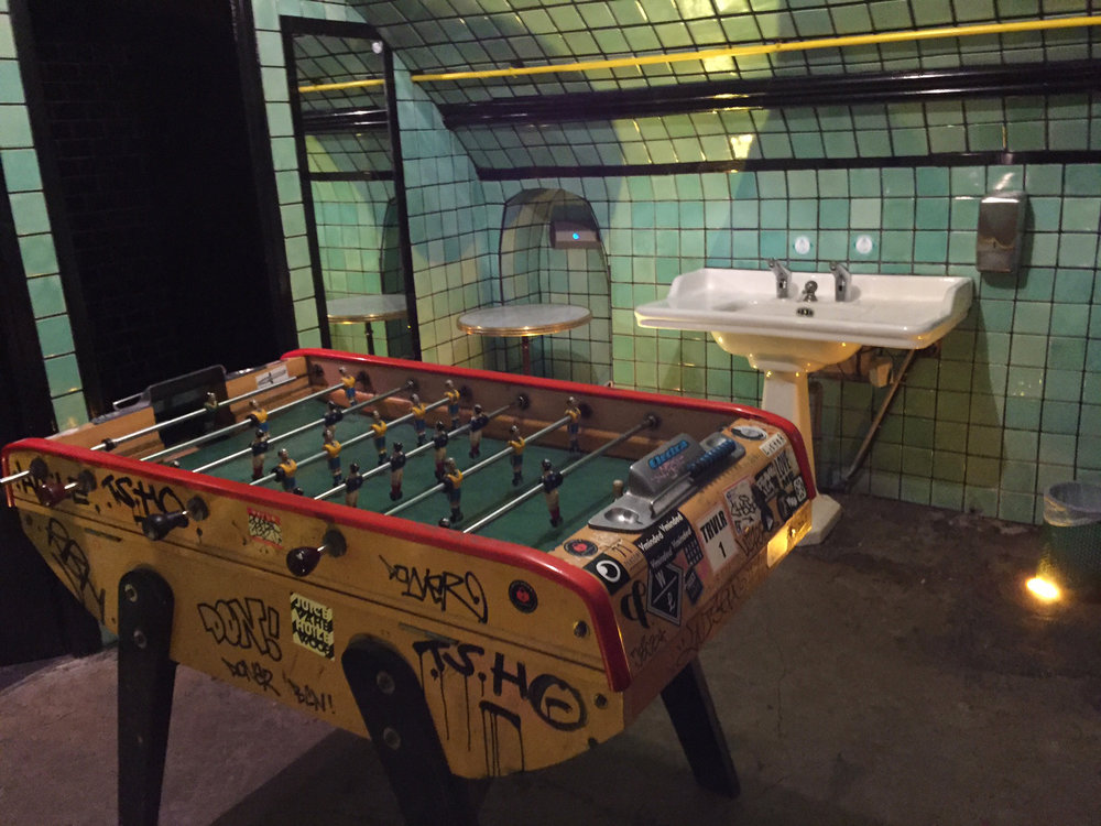 Table football to kill time while you wait!