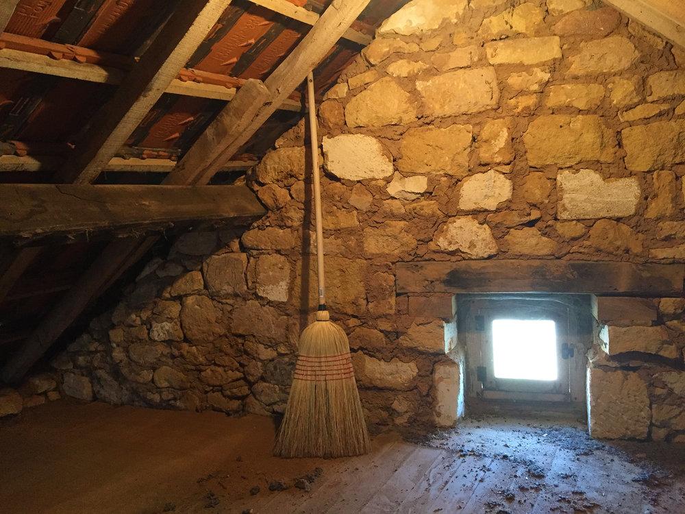 An empty attic