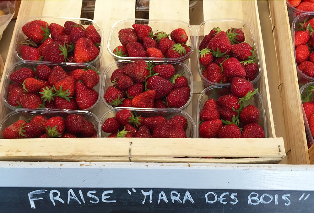 Mara des Bois, a cultivated strawberry with a flavor reminiscent of wild strawberries