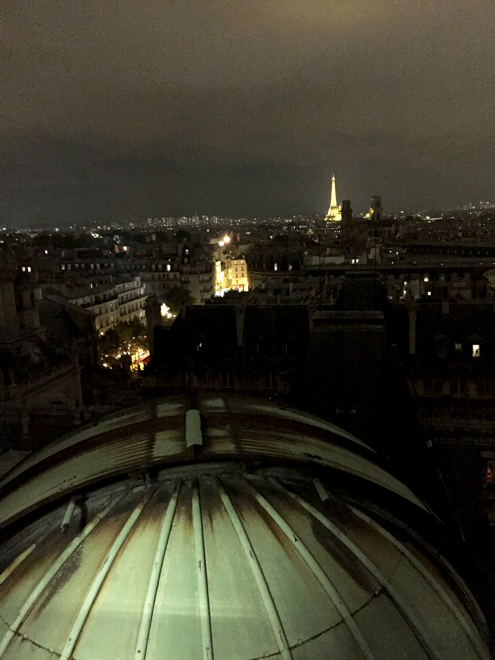 The lower cupola, Saint-Sulpice, and the Eiffel Tower.