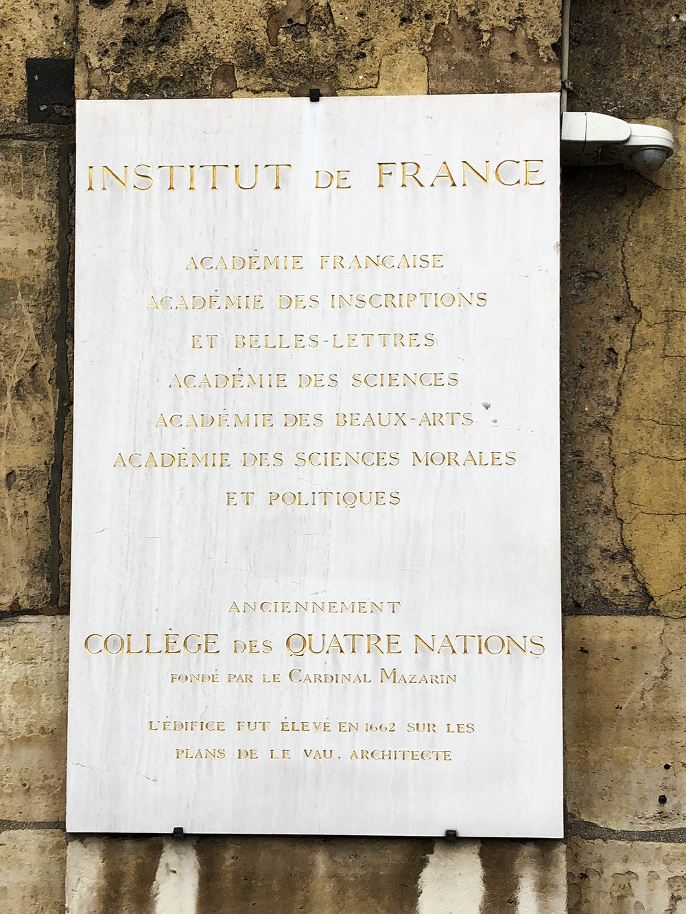 Several Académies at l'Institut de France