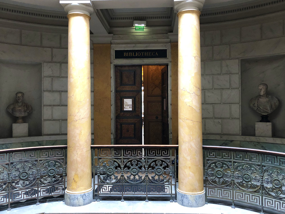 A grand entrance to the library