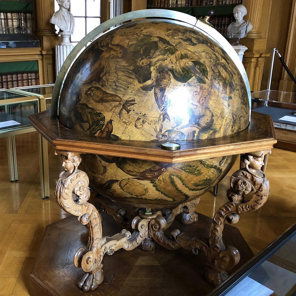 A 1693 celestial globe by Coronelli