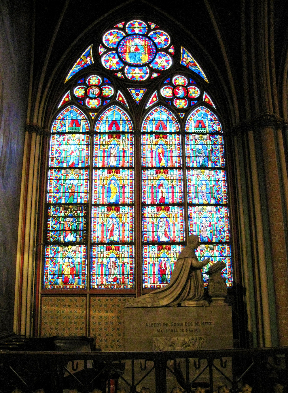 Stained glass in one of the lateral chapels