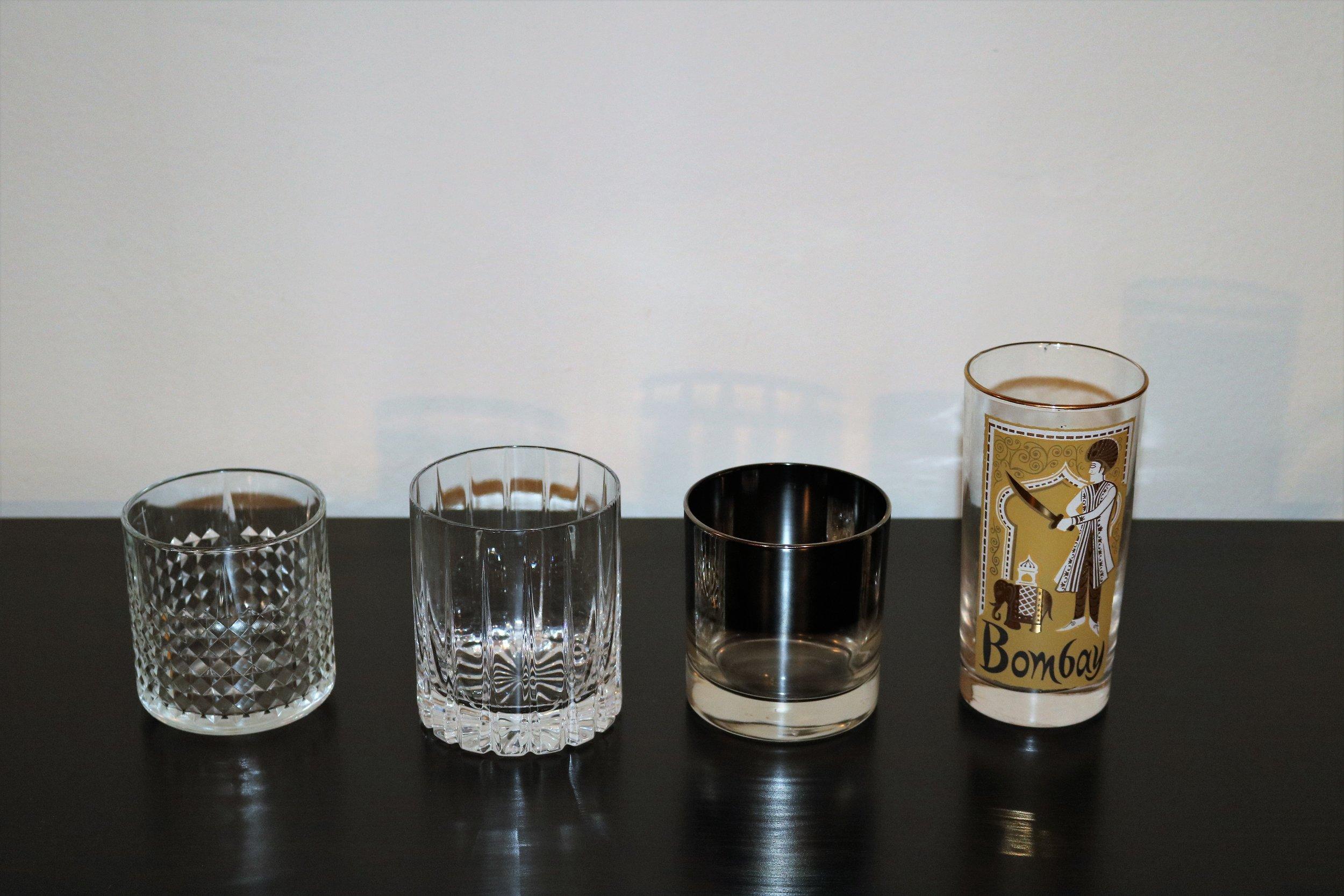 episode   vintage  modern glassware — modern bar cart - highballs  lowballs
