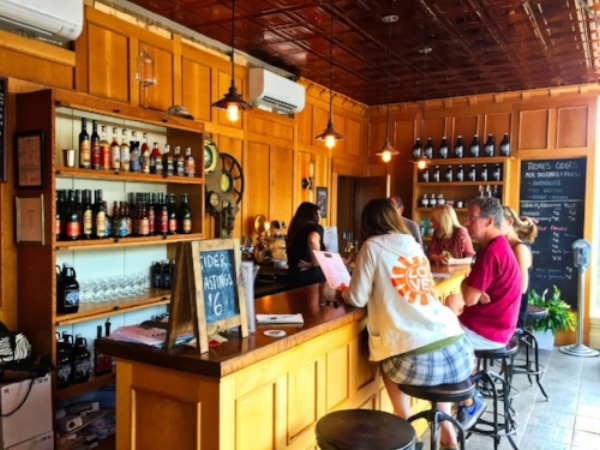 The Mt. Defiance Cidery and Distillery Tasting Room  (Image courtesy of the Loudoun Tribune)