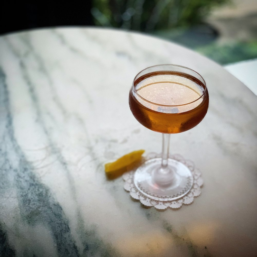 $413 Million Dollar Baby  (Scotch, Oloroso Sherry, lemon/coriander shrub)