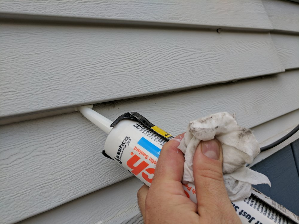 We can seal out most gaps where wasps like to nest behind.