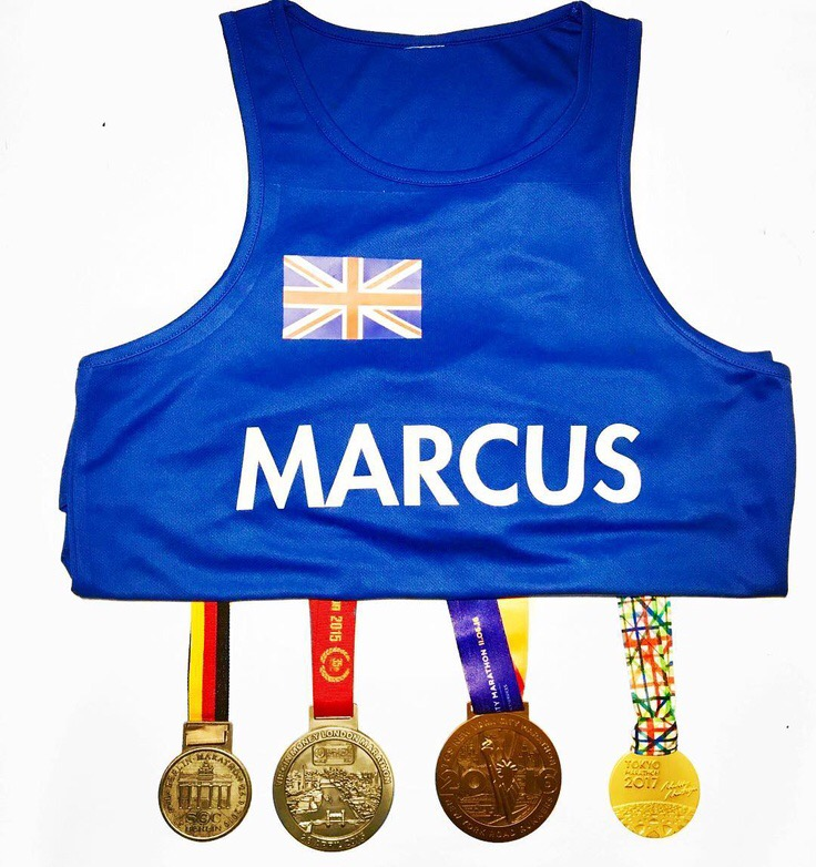 Follow  @themarathonmarcus on Instagram  and his journey to completing The 6  World Marathon Majors ! - The races take place in   Tokyo ,  Boston ,  London ,  Berlin ,  Chicago   and   New York City  .