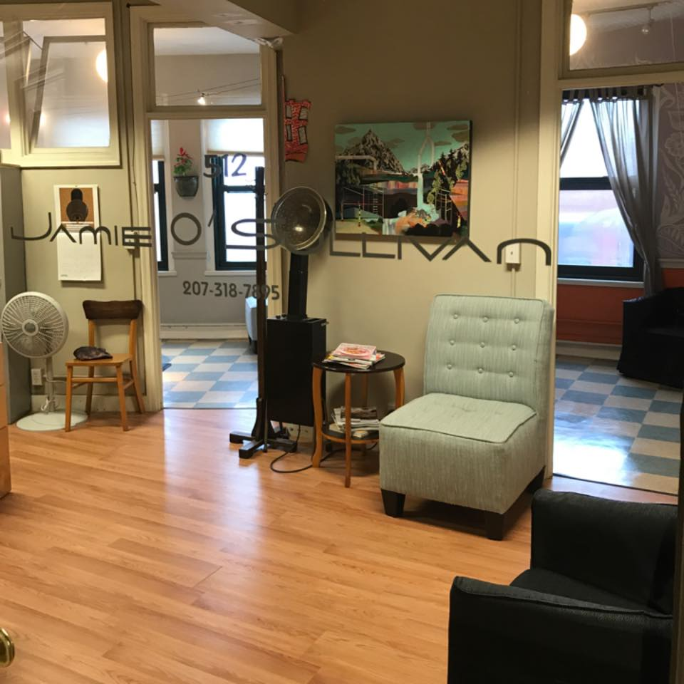 Jamie O'Sullivan Salon is located at 142 High St atop the Art's District in Portland, Maine || To schedule an appt. call 207-318-7895