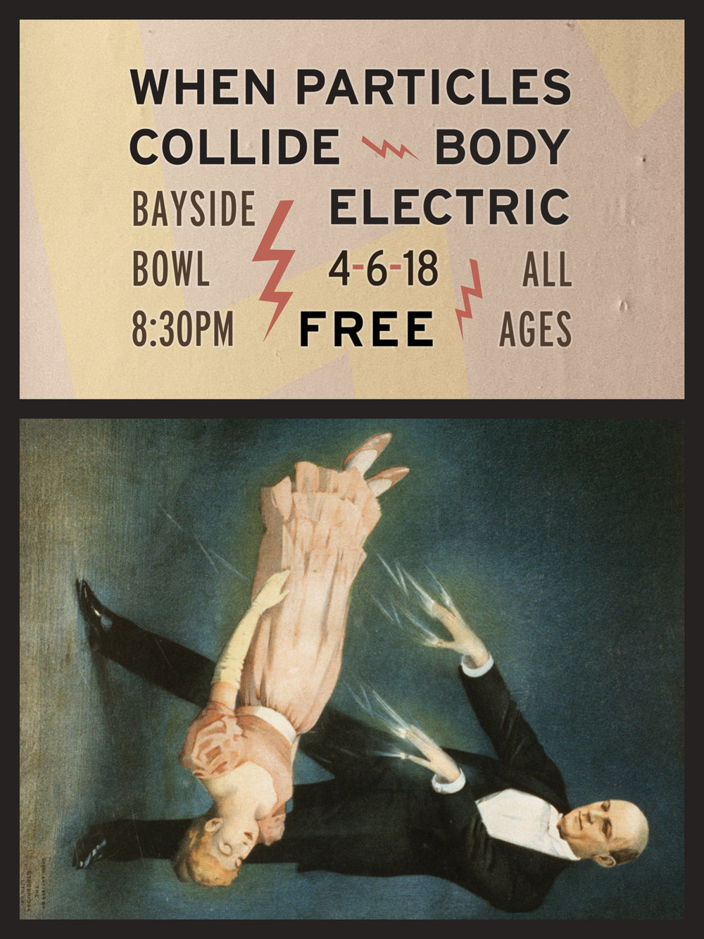 Body Electric (one of Eric's projects) is playing a free, all-ages show Friday, April 6th @ Bayside Bowl.