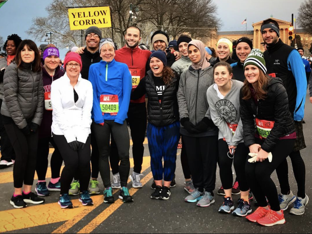 Philly Phitness Team! Love Run 5k! ❤️  #phillyphitness   @phillyphitness  via  Carla's   Instagram