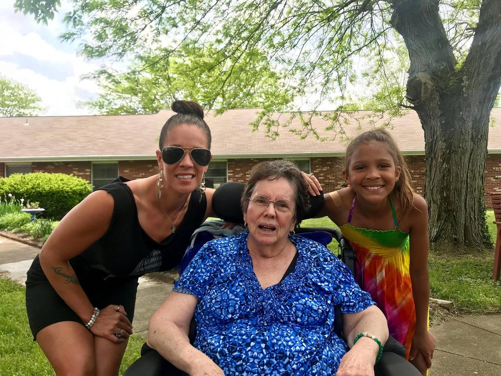 """""""And to this day, as she sits in her wheelchair in a nursing home, although Dementia is now also settling into her brain, in her darkest moments my mother will STILL crack a joke. This is how she lets us know she's still here so that we are less sad. She still believes laughter through tears is the best medicine."""" -MR"""