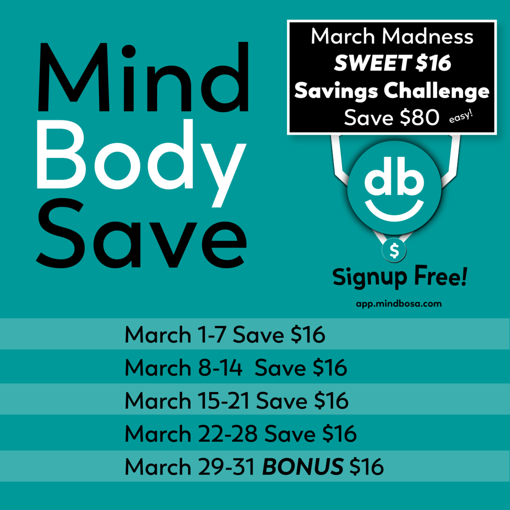 money saving challenge march mindbosa