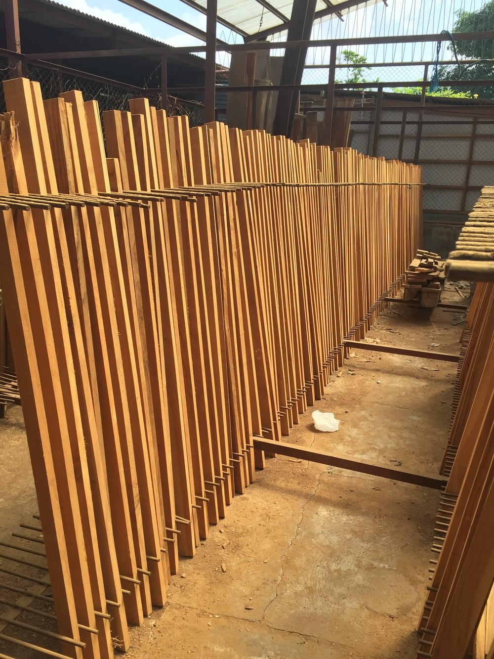 The sweet smell of Teak drying under the hot Bali sun...