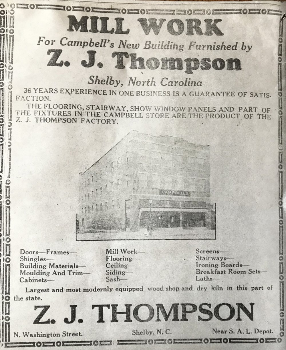 The building was immediately emblematic of local craftsmenship and a source of pride for every Shelbian who contributed work on the building. The Z. J. Thompson factory used the building as an example of their good work.