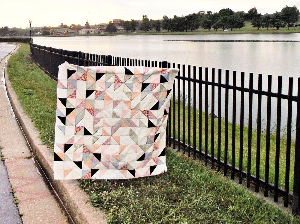 Half Square Triangle Quilt.JPG