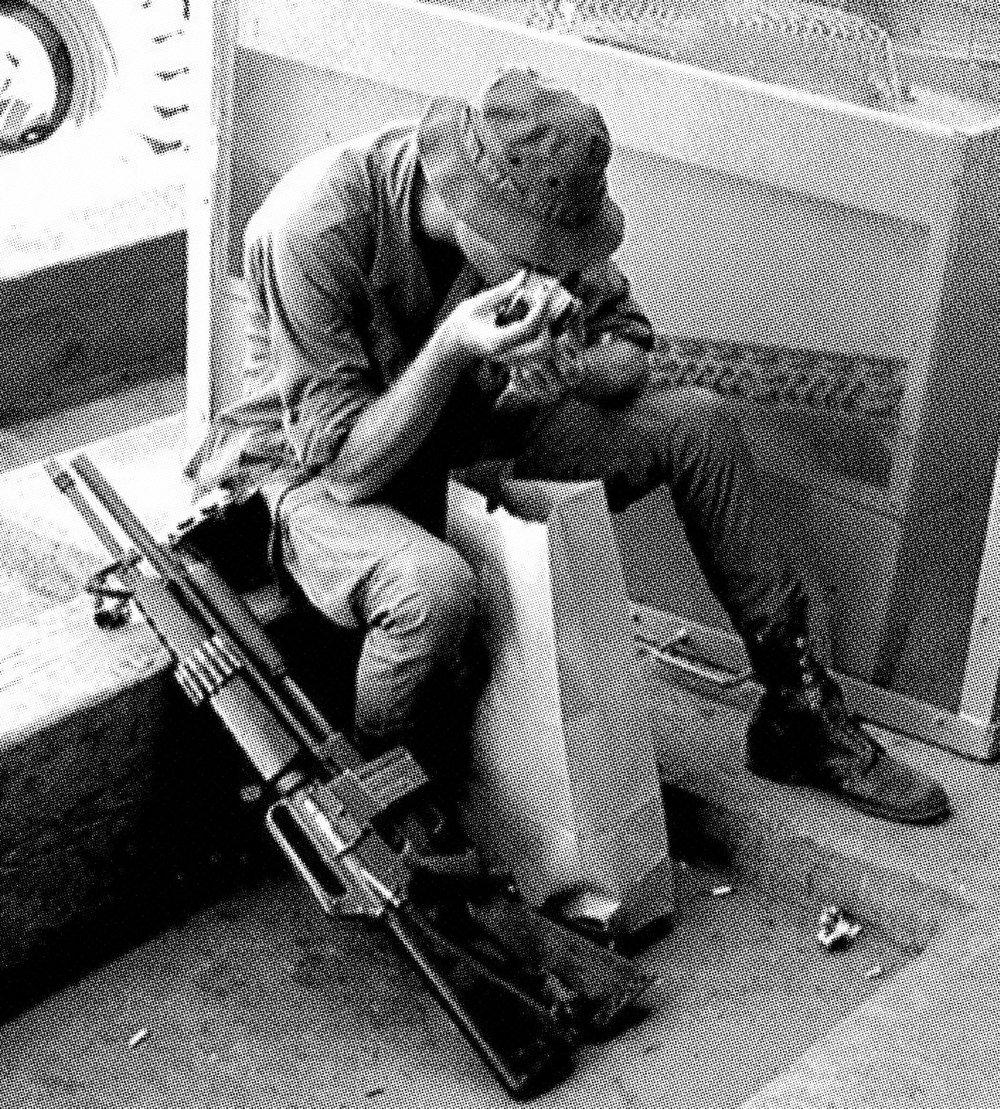 Soldier Snorting Dope, Aldo Stephen Panzieri, 1969 ( source )