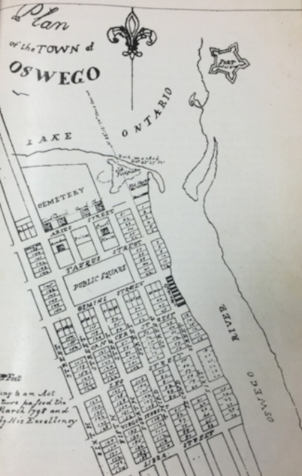 Plans for the town of Oswego.