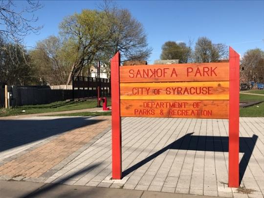 Sankofa Park on South Salina Street (photo by me)