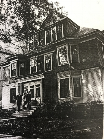 "Instead of dorms, female students lived in ""cottages."" Pictured is Lima Cottage, (926 South Crouse Avenue), where Jackson lived."