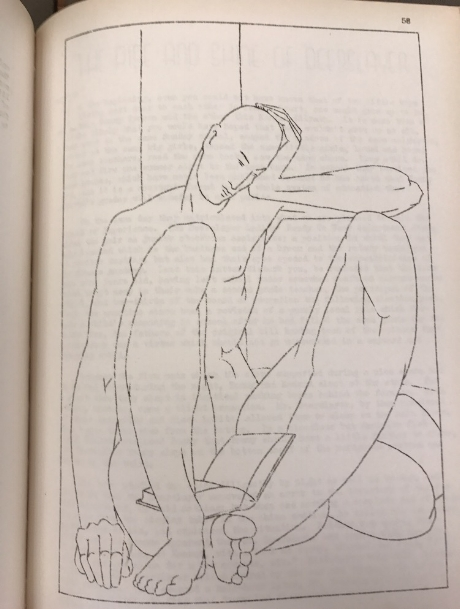 "This drawing, from  Spectre  I, was not one of the two ""offensive"" pictures, which were removed from the magazine."