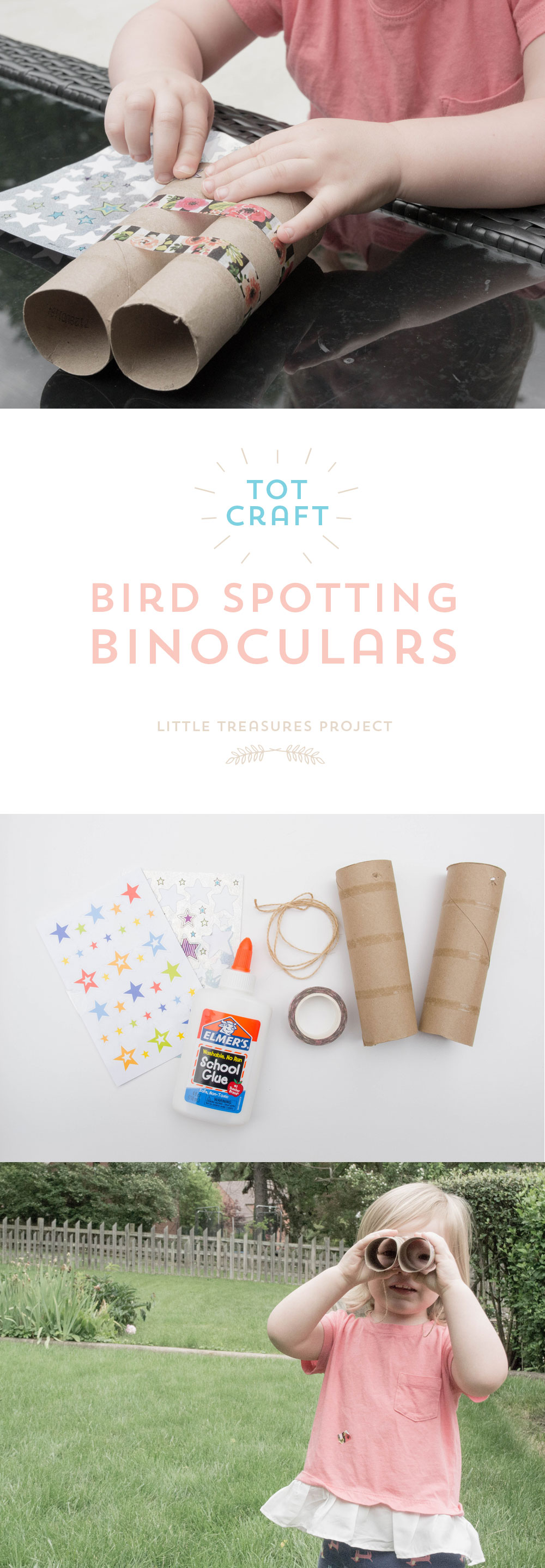 Little Treasures Project - Tot Craft | Bird Spotting Binoculars