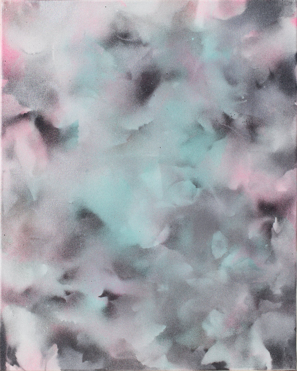 Untitled, 2016  C-print of Enamel on Canvas Painting