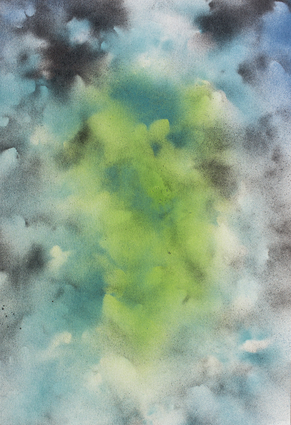 Untitled, 2016  inches  Enamel on Paper