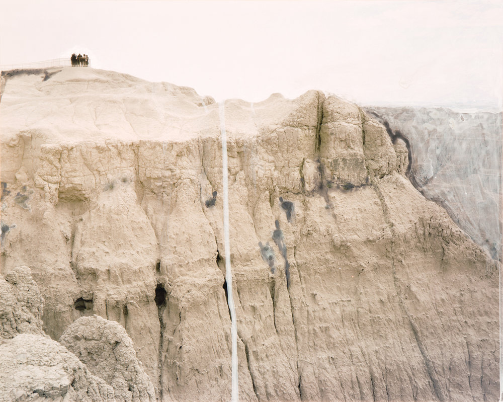 Badlands, 2015  16 x 20 inches  Acrylic on C-print
