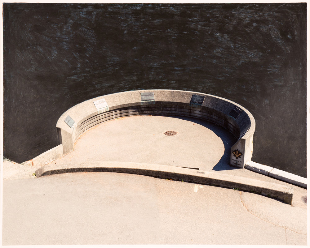 Round Platform, 2017  16 x 20 inches  Acrylic on C-print