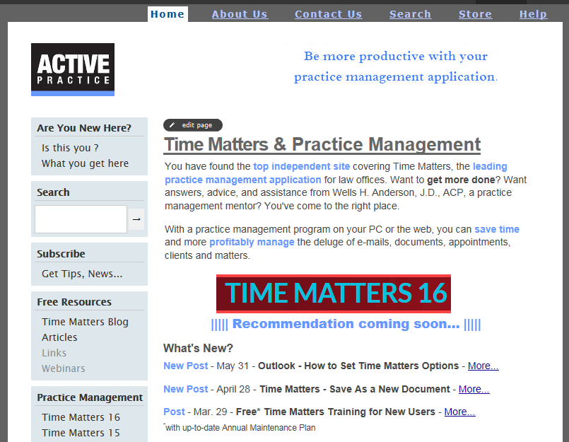 Active Practice Website 2.0