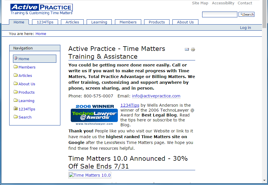 Active Practice Website 1.0