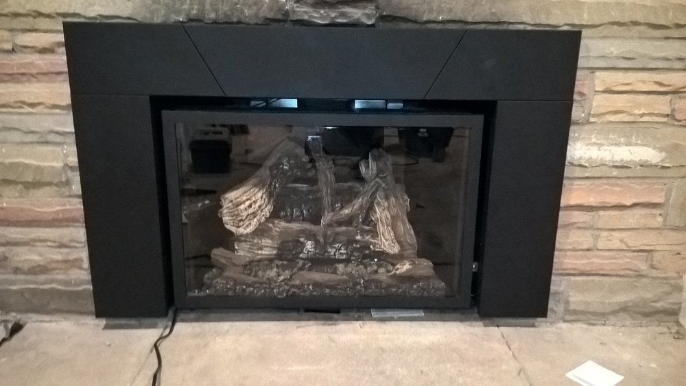 licensed gas fueled hearth install -