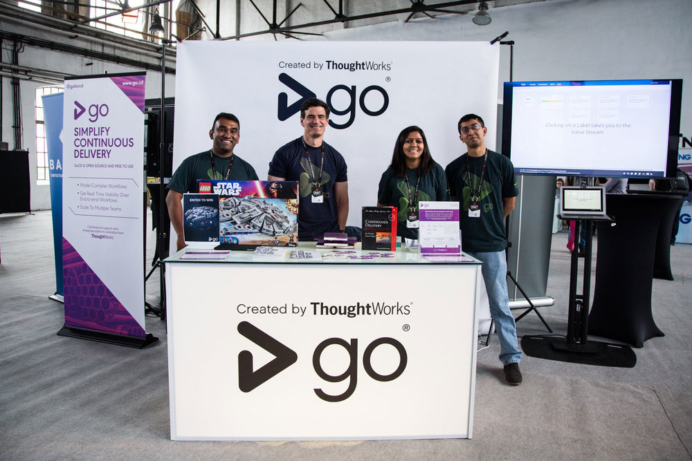 GoCD Conference Booth and Team Shirts