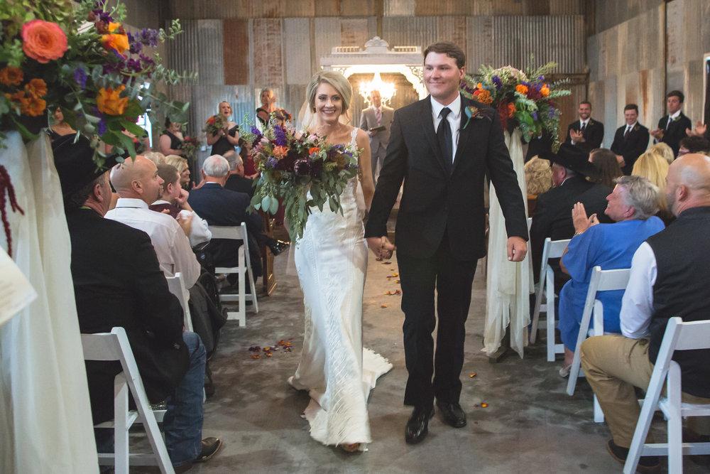 Taylor & Tyler Norris - October 14, 2017 | Kitalou Gin Wedding & ReceptionPhotos: Kristin Waits Bednarz //Makeup: Makeup By Cali //Florals: Dayspring Design //Video: Cre8ive Wedding Films //Food & Booze: Back 40 Grill //Venue: Kitalou