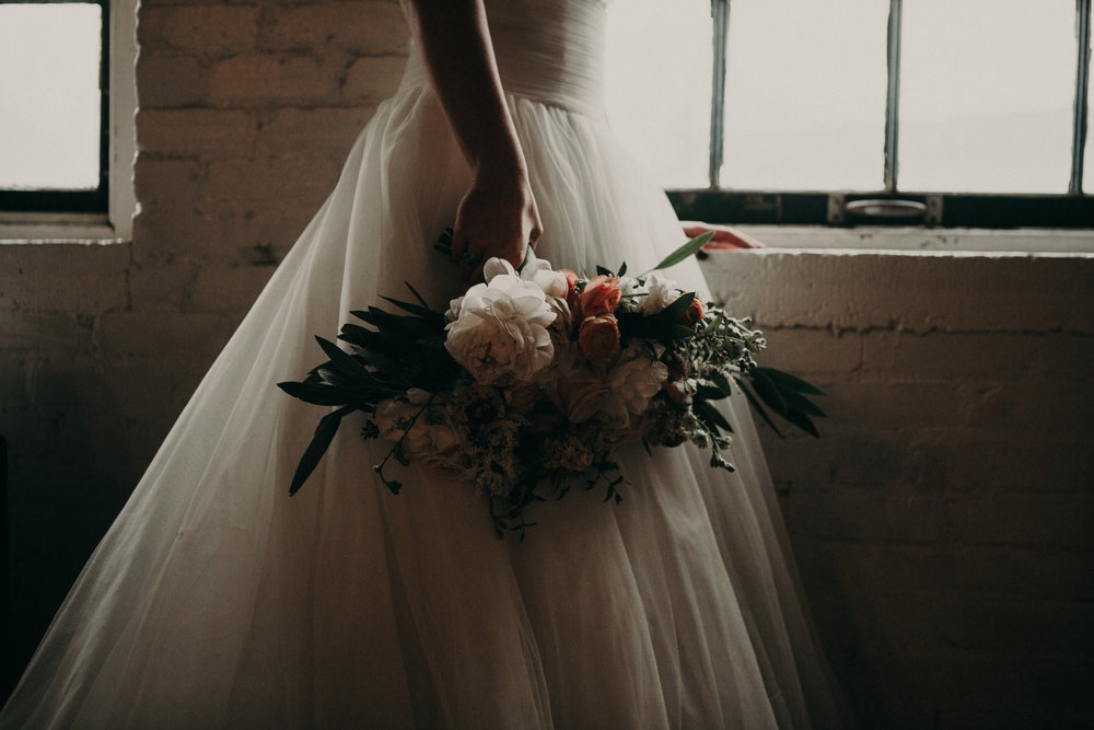 warehouse bridal styled shoot