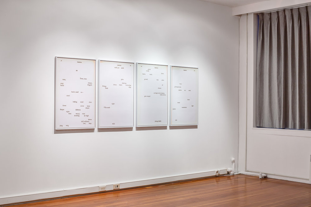 darkness (pages 58, 59, 100, 101),  installation view