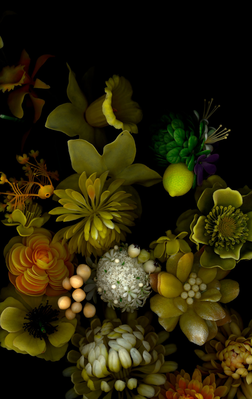 "yellows, bioposy #1, digital c print, 2007, 42"" x 67"""